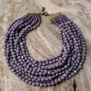 Anthropologie Lavender Bead Necklace Collar